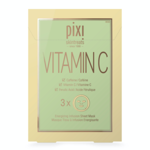 Pixi Skintreats Vitamin C Mask step seven of korean skin care routine