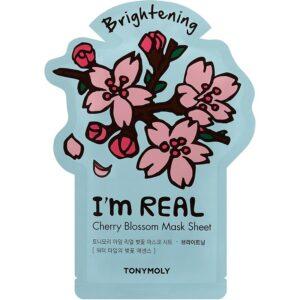 Tony Moly's I'm Cherry Blossom Mask sheet step seven of korean skincare routine