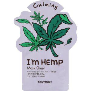 Tony Moly's I'm Hemp Mask Sheet step seven of korean skincare routine