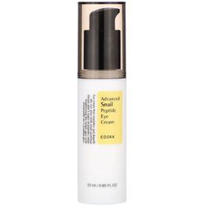 COSRX Advanced Snail Peptide Eye Cream step eight of korean skin care routine