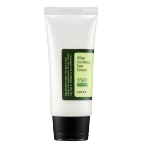 cosrx aloe soothing sun cream spf50 step ten of korean skincare routine